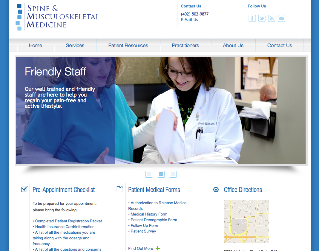 WEBSITE LAUNCH - Spine and Musculoskeletal Medicine