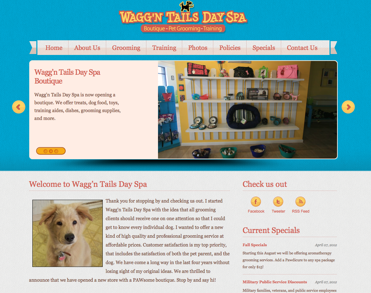 WEBSITE LAUNCH - Wagg'n Tails Day Spa