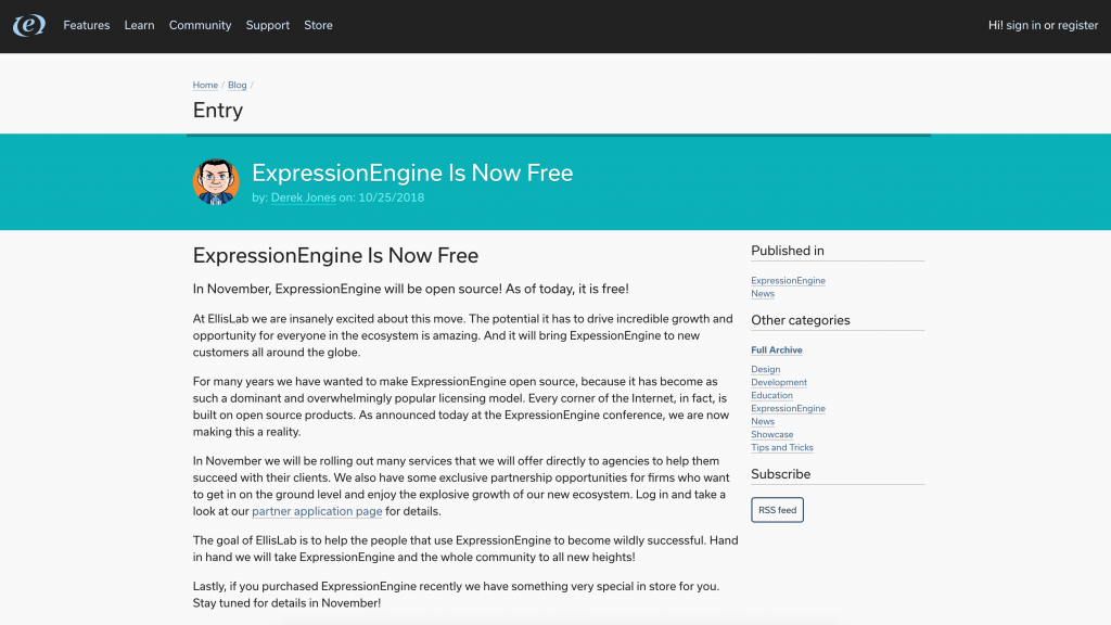 Ellis Labs Announces ExpressionEngine is going Open Source