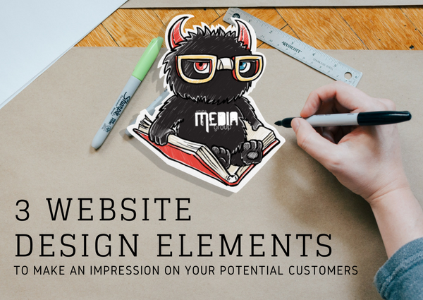 Make an impression on potential customers with web design elements.