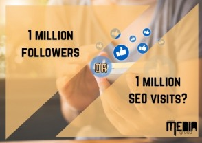 Which would you pick: One million followers or one million SEO visits?