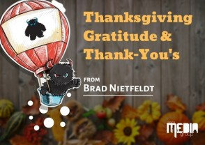Thanksgiving gratitude and thank-you's from Brad Nietfeldt