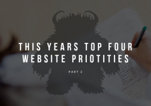 Four top website priorities in 2019 - Pt 2