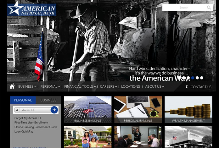 American National Bank Website