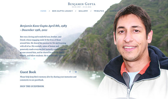 Website Launch - Ben Gupta Memorial Website