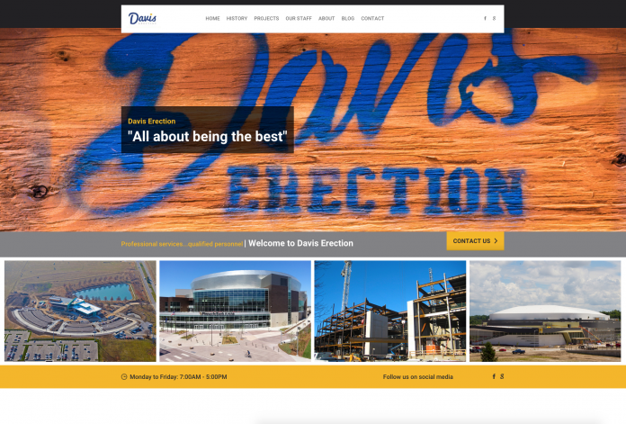 Davis Erection Website Project