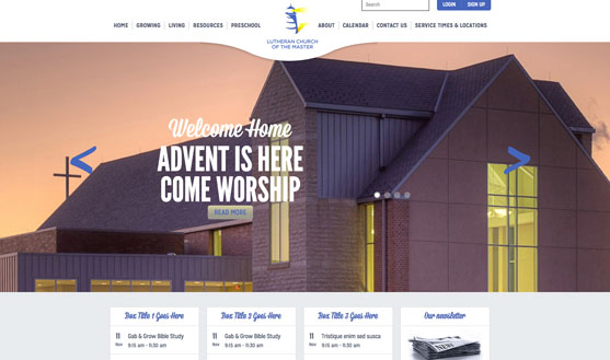 OMAHA MEDIA GROUP LAUNCHES LUTHERAN CHURCH OF THE MASTER WEBSITE
