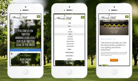 Miracle Hill Golf & Tennis Center Mobile Website