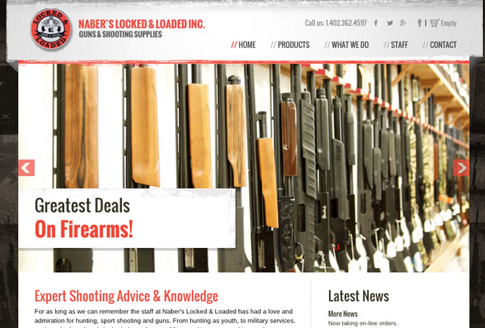 Naber's Locked & Loaded Website Launch