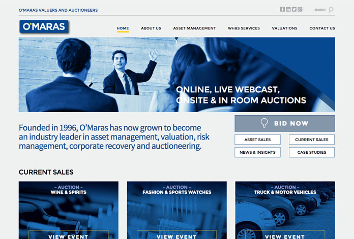 OMAHA MEDIA GROUP LAUNCHES O'MARAS AUCTIONS WEBSITE