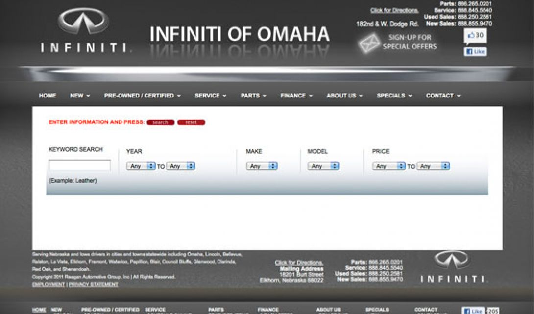 Infiniti of Omaha Auto Search - 1