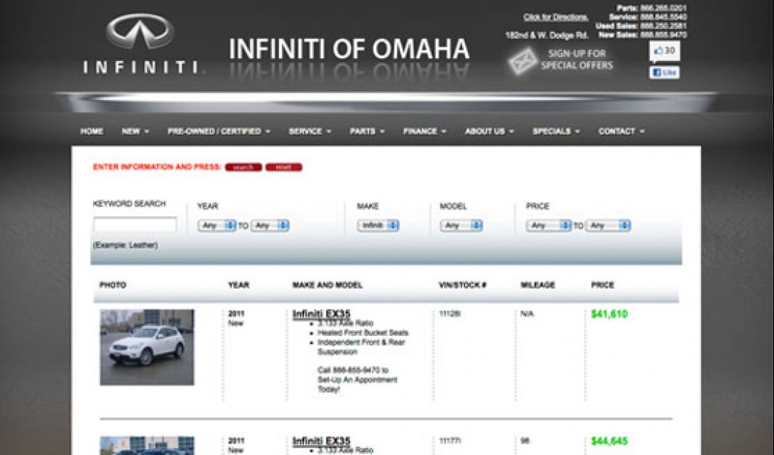 Infiniti of Omaha Auto Search - 2
