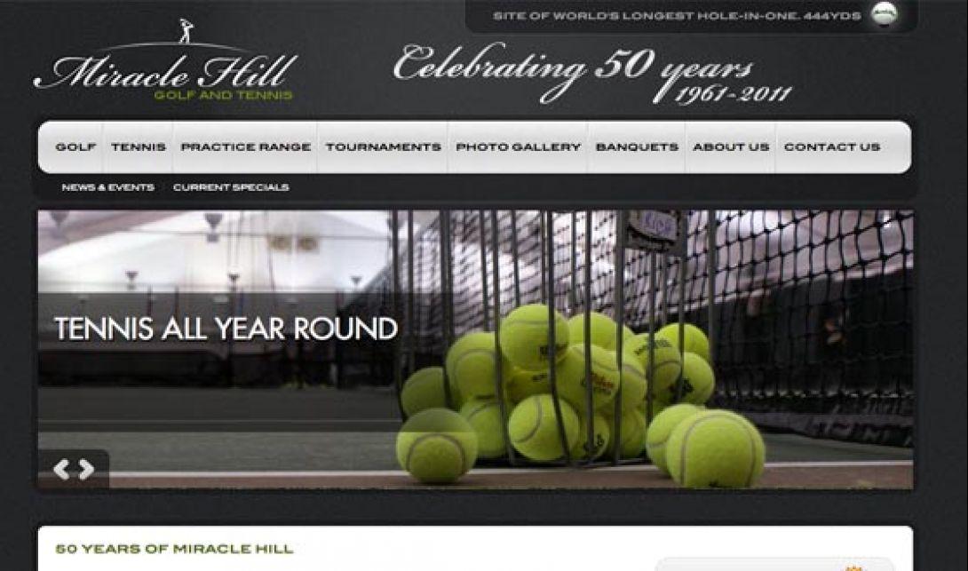 Miracle Hill Golf + Tennis Center - Website & Logo Design, v1.0 - 1