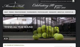 Miracle Hill Golf + Tennis Center - Website & Logo Design, v1.0