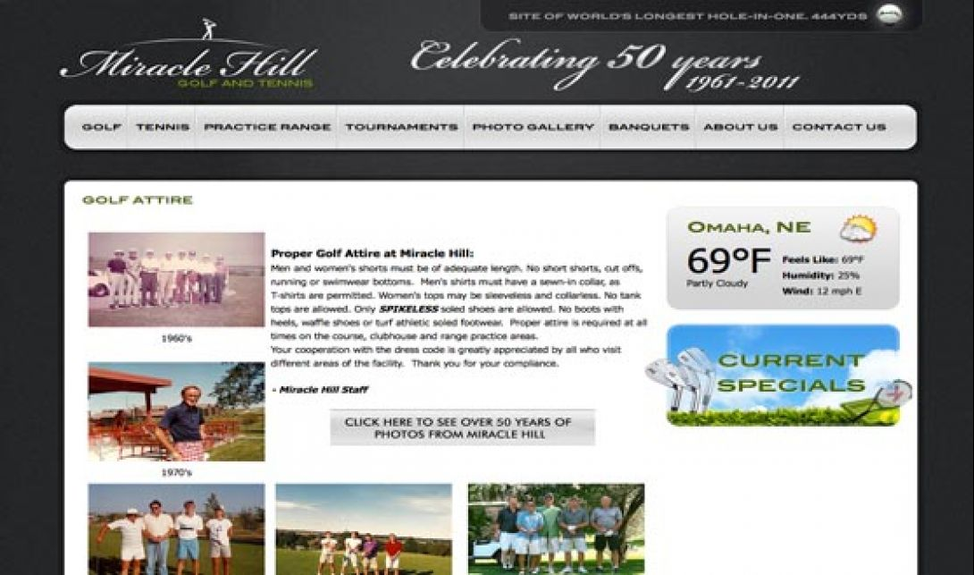 Miracle Hill Golf + Tennis Center - Website & Logo Design, v1.0 - 2