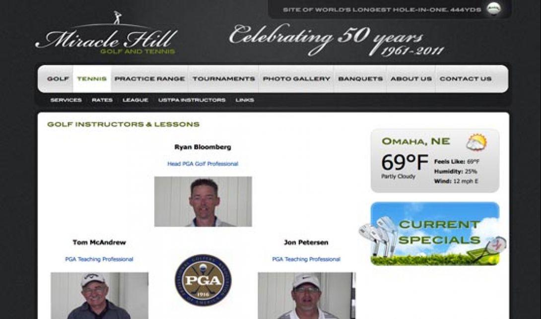 Miracle Hill Golf + Tennis Center - Website & Logo Design, v1.0 - 4