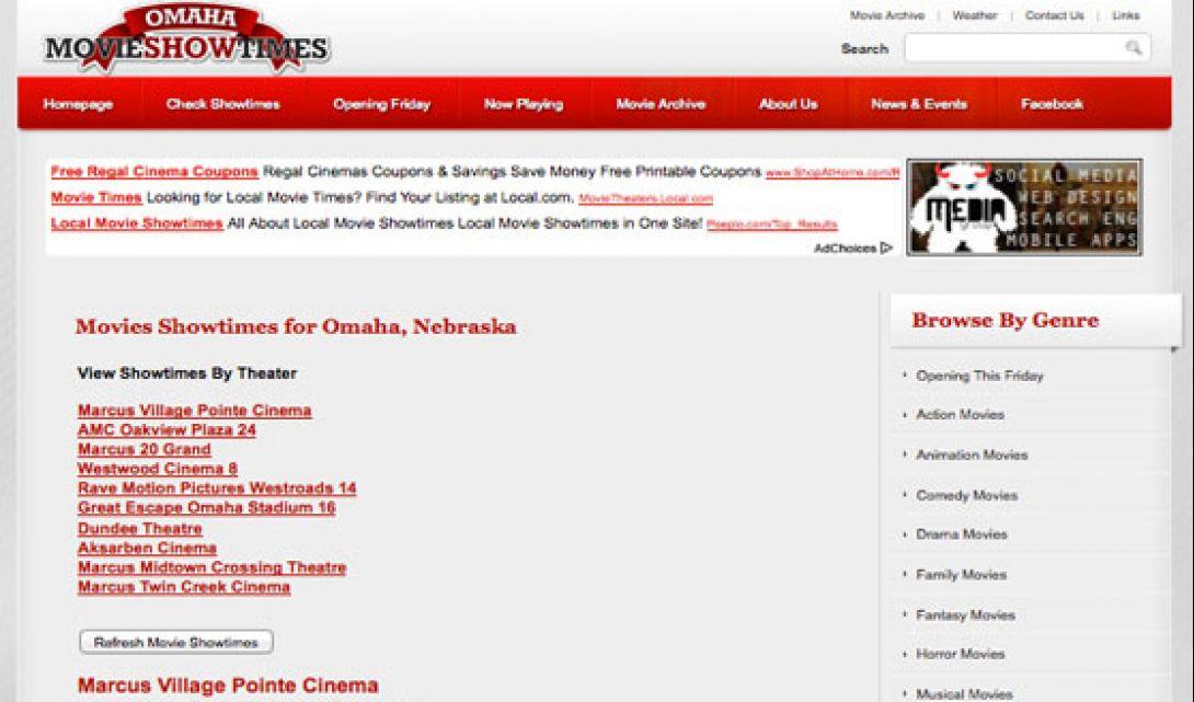 OmahaMovieShowtimes.com - 2