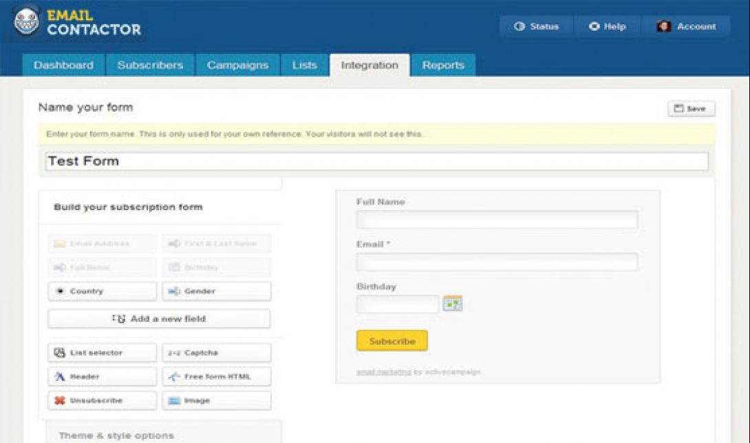 emailContactor.com version 5.4 - 3
