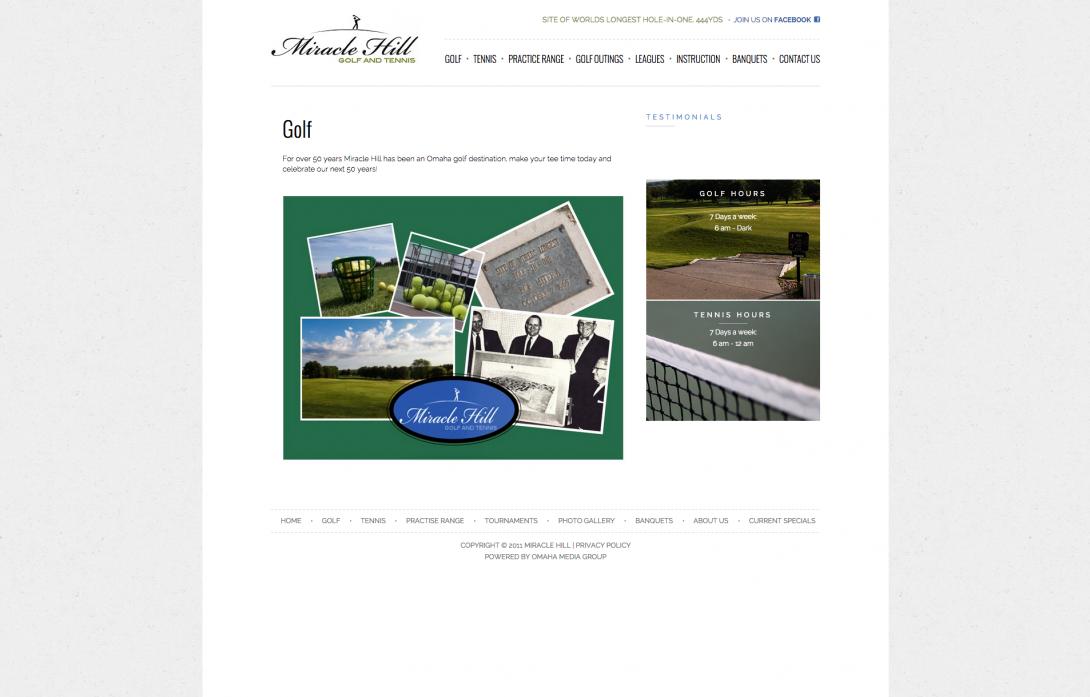 Miracle Hill Golf + Tennis Center - Website & Logo Design, v2.0 - 2