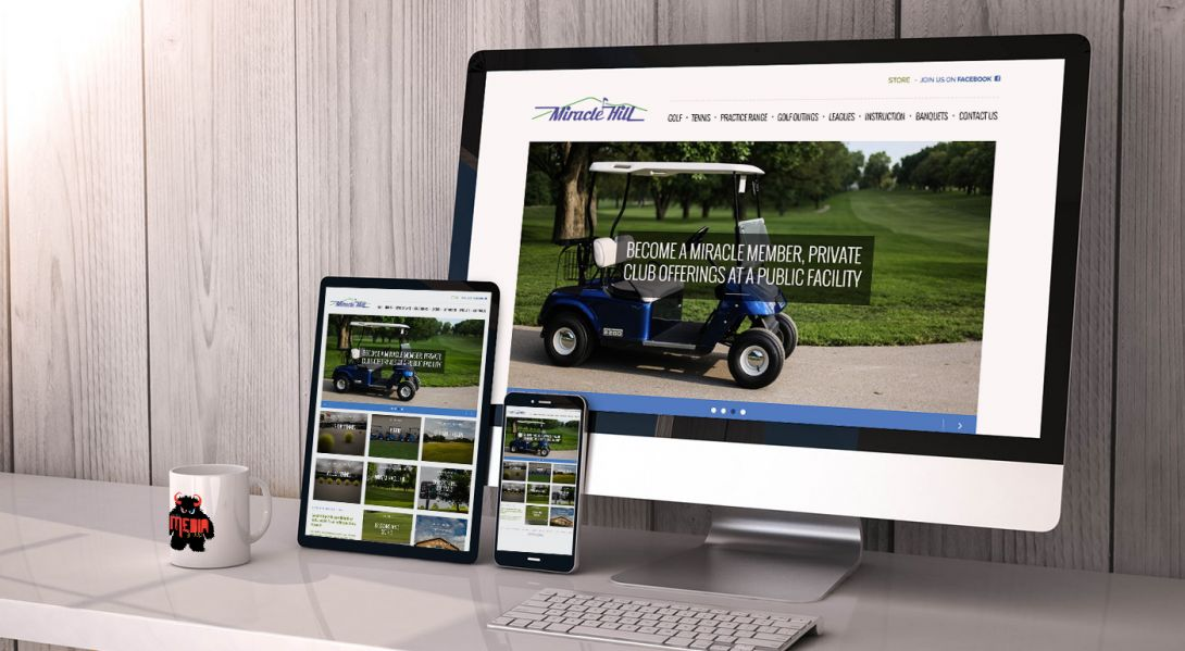Miracle Hill Golf + Tennis Center - Mobile Site Design - 2