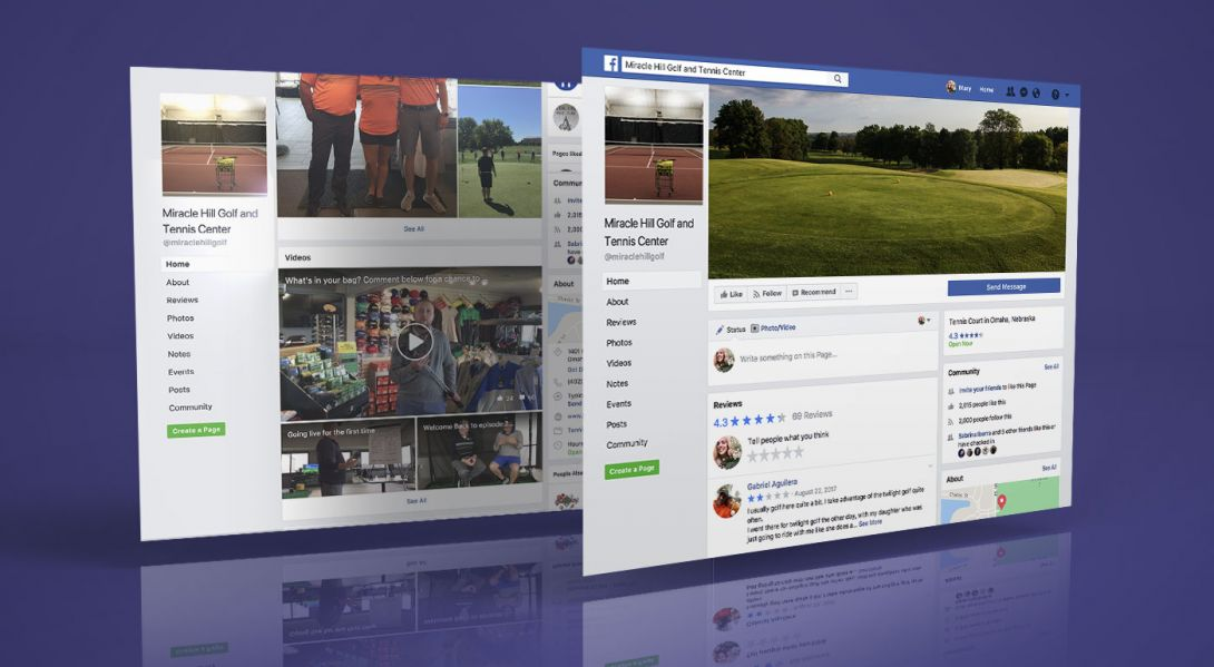 Miracle Hill Golf + Tennis Center - Mobile Site Design - 5