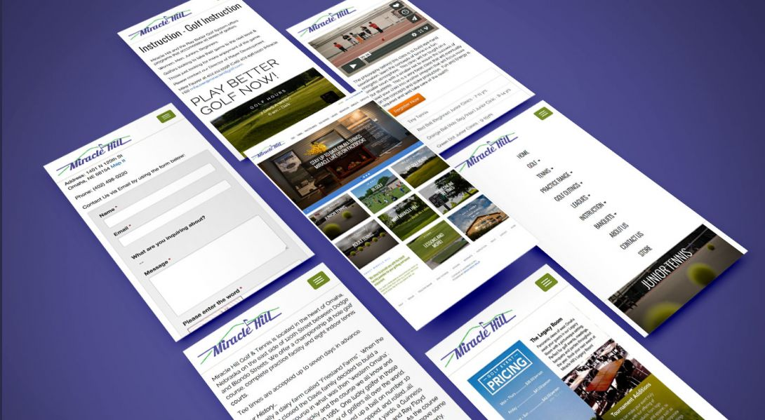 Miracle Hill Golf + Tennis Center - Mobile Site Design - 3