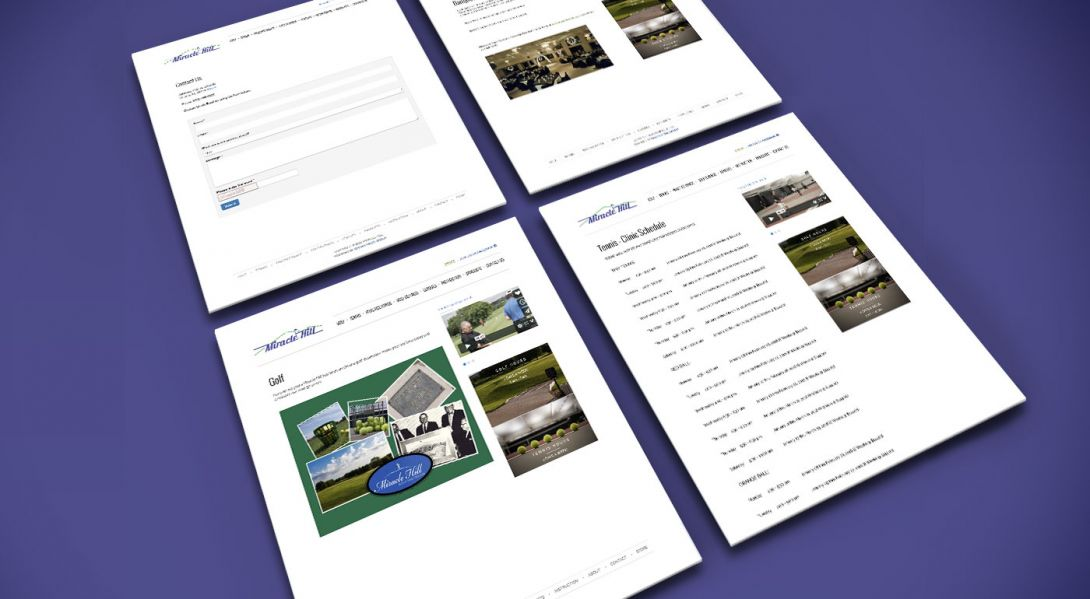 Miracle Hill Golf + Tennis Center - Mobile Site Design - 4