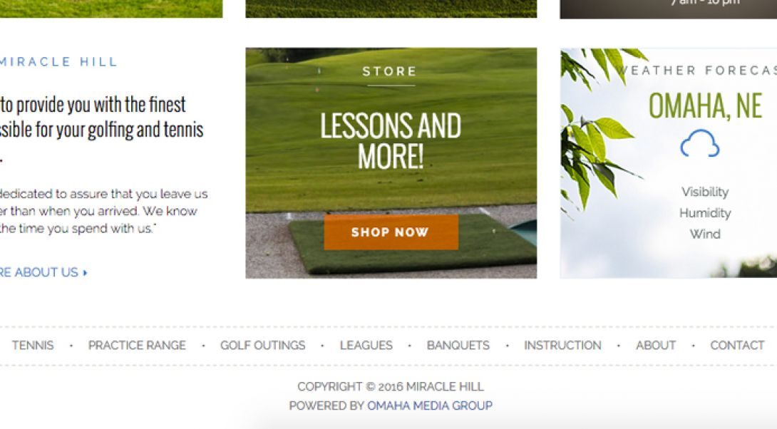 Miracle Hill Golf + Tennis Center - e-Commerce Store - 1
