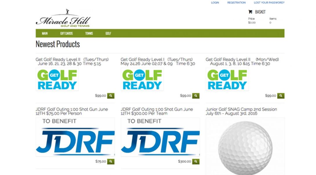 Miracle Hill Golf + Tennis Center - e-Commerce Store - 4